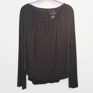 {American Eagle} Soft & Sexy Black Top Size Medium